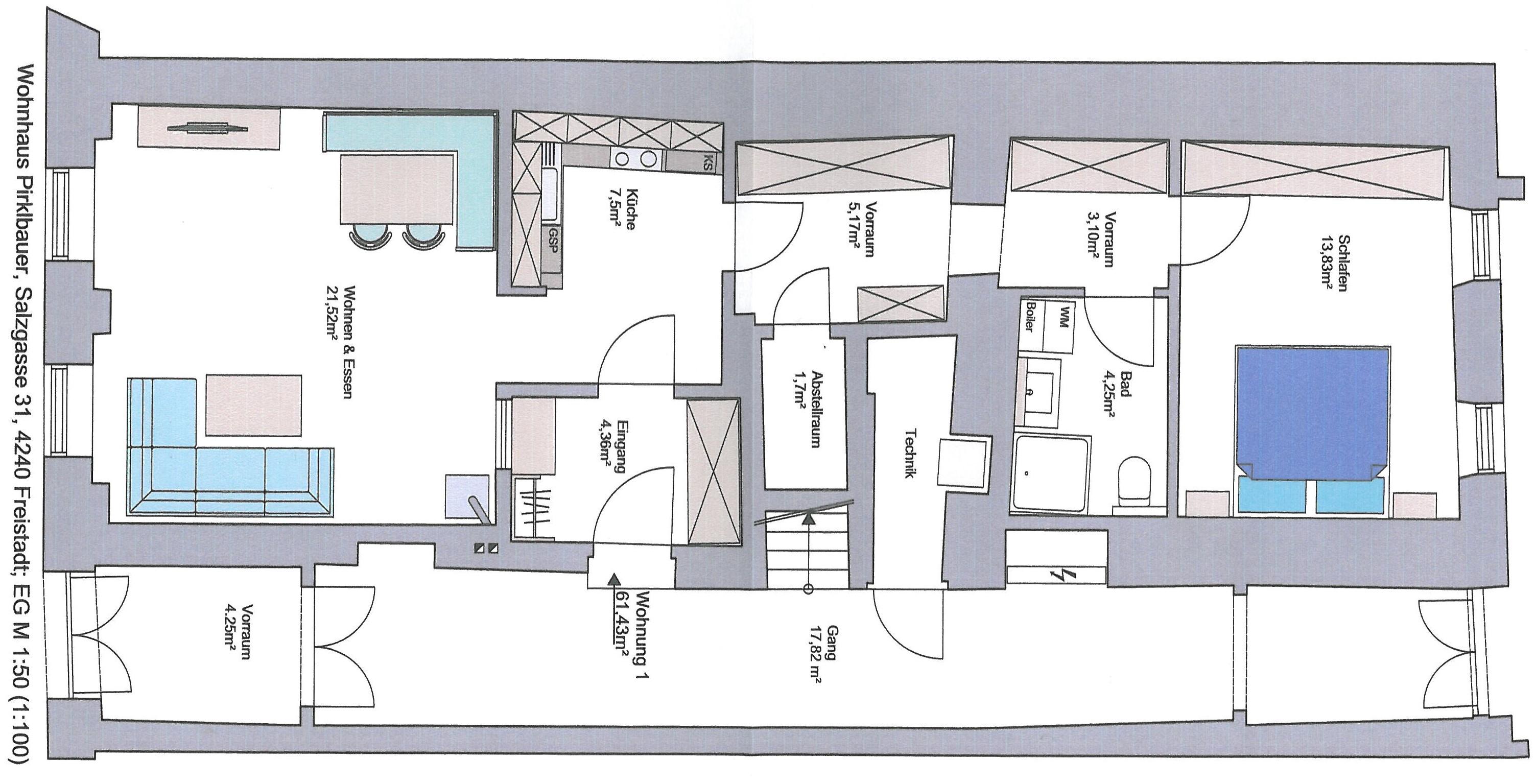 salzgasse 31 top 1 wohnungen freistadt. Black Bedroom Furniture Sets. Home Design Ideas